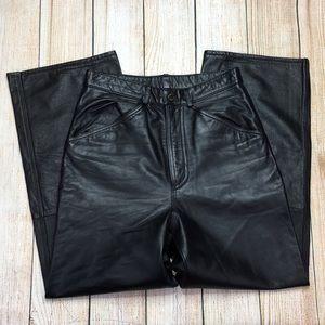 M Julian Wilsons Leather Black Leather Pants